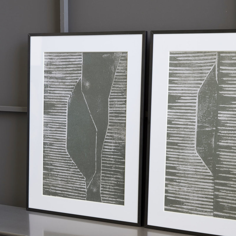 House Doctor Illustration w. frame, Fields, White