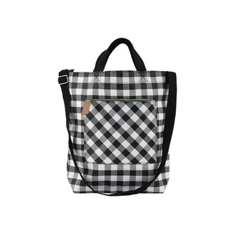Monograph Bag, Check, Black