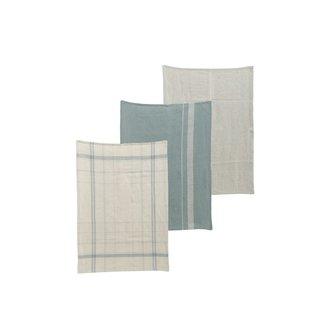 Nicolas Vahe Tea towels, Linen, Asstd. 3 designs, Set of 3