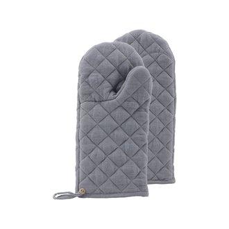 Nicolas Vahe Oven gloves, Linen, Grey, Pack of 2 pcs