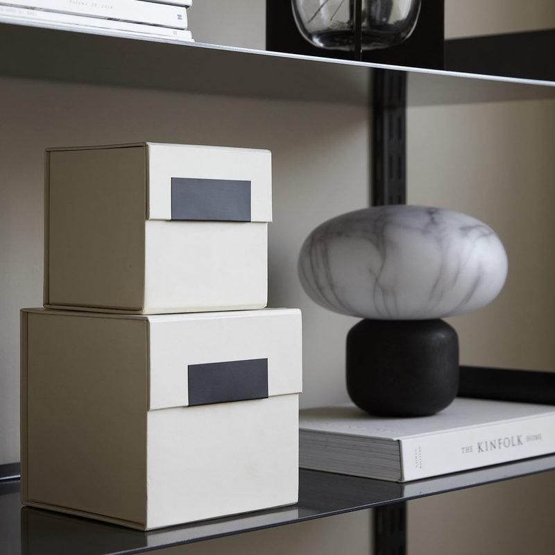 House Doctor Storage w. lid, Birch, Beige, Set of 2 sizes