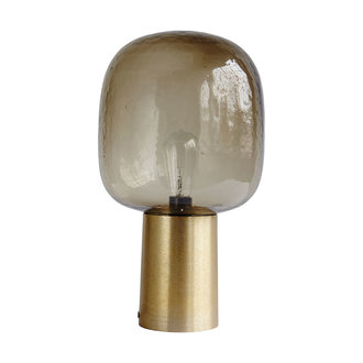 House Doctor Table lamp, Note, Grey/Brass, E27, Max 25 W, 2.5 m cable