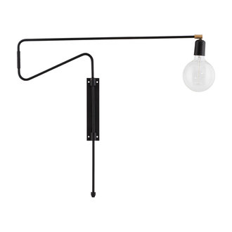 House Doctor Wall lamp, Swing, Black, E27, Max 25 W, 2.20 m cable