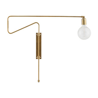 House Doctor Wall lamp, Swing, Brass, E27, Max 25 W, 2.20 m cable