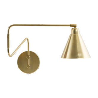 House Doctor Wall lamp, Game, Brass, E14, Max 25 W, 2.20 m cable