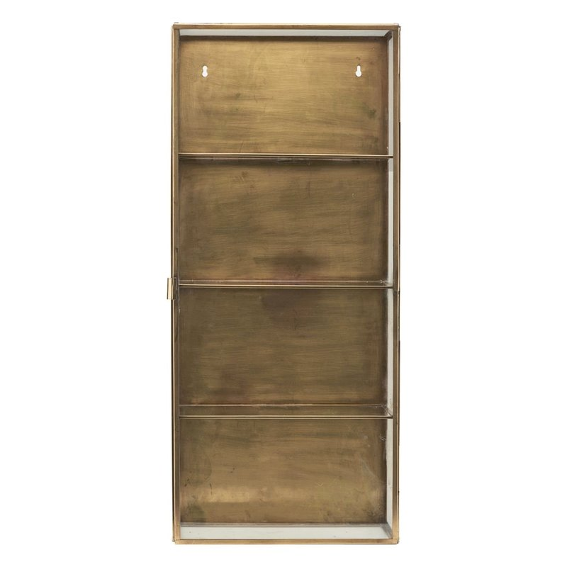 House Doctor Cabinet, Glass, Brass