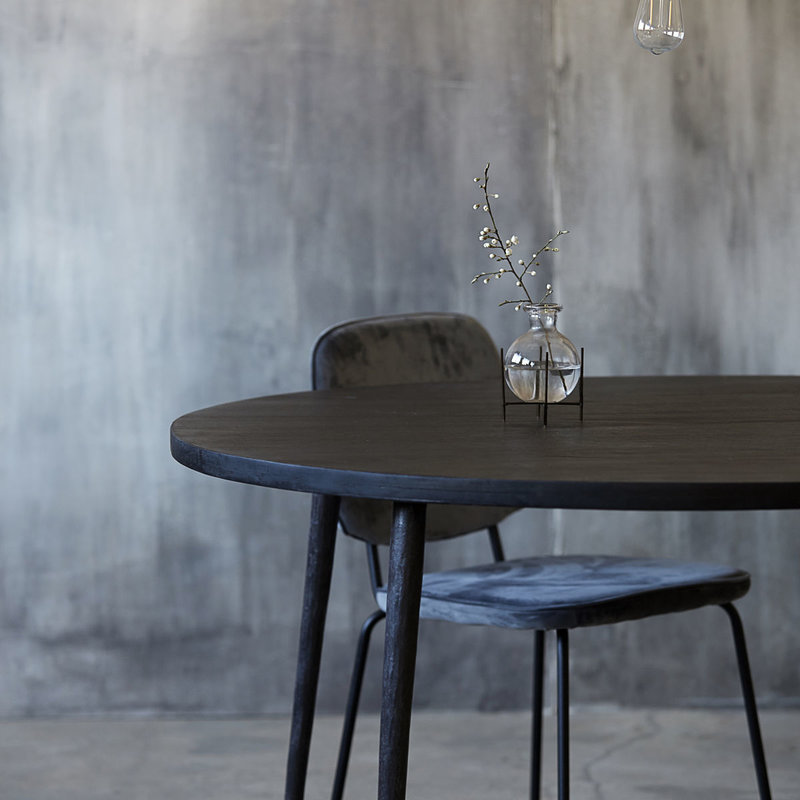 House Doctor Dining table, Club, Black stain