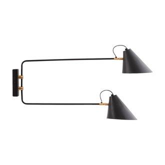 House Doctor Wall lamp, Club Double, Black, E27, Max 25 W per socket, 2.5