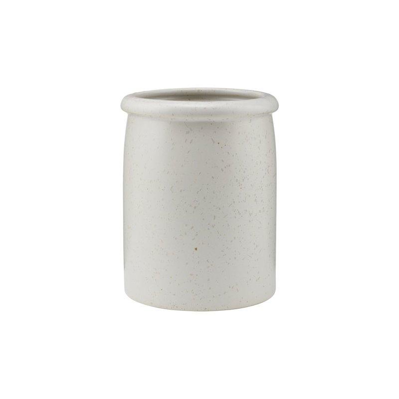 House Doctor Pot Pion, grijs/ wit