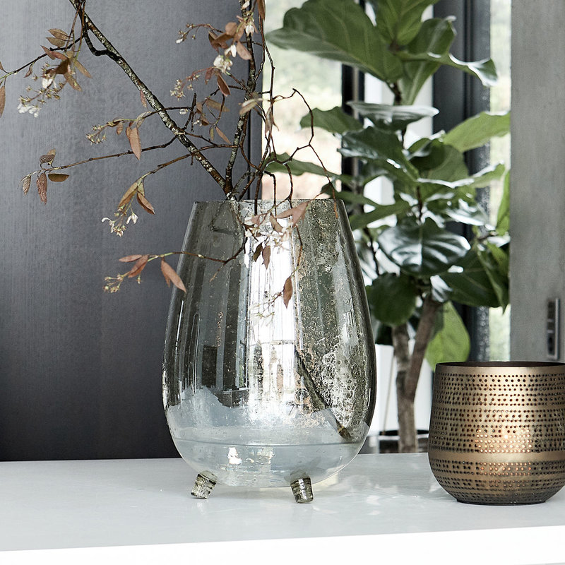 House Doctor Vase, Tinka, Green lustre