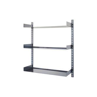 House Doctor Shelving system, Fari, Black, Incl. 3 shelves
