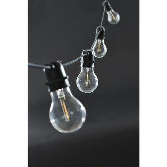 House Doctor String lights, Function, Black, 10 LED bulbs, E27, 3 W, Bulb