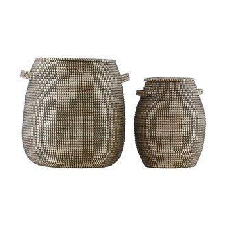 House Doctor Baskets, Effect, Black/Natural, Set of 2 sizes