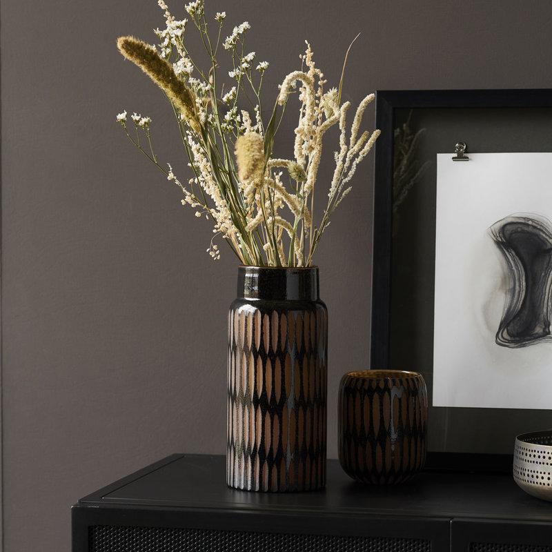House Doctor Vase, Pimpri, Black/Brown