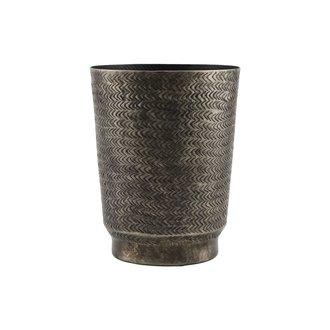 House Doctor Aluminium bloempot Oli -L-