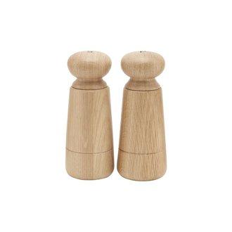 House Doctor Salt and pepper grinder, Wardha, Oak, Set of 2 pcs