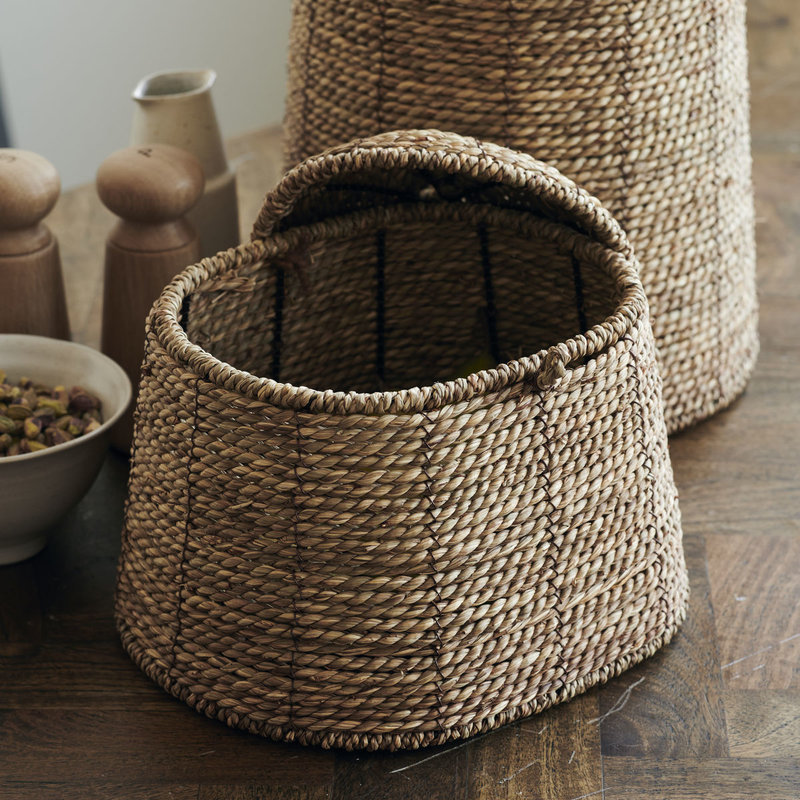 House Doctor Basket w. lid, Rama, Natural
