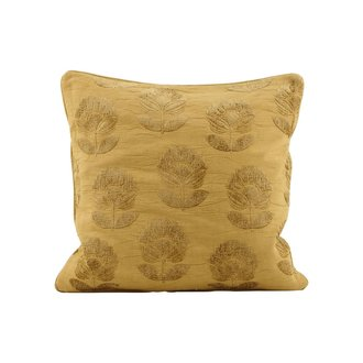 House Doctor Cushion cover, Velv, Mustard, Print will vary
