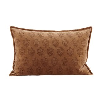 House Doctor Cushion cover, , Velv, Coral, Print will vary