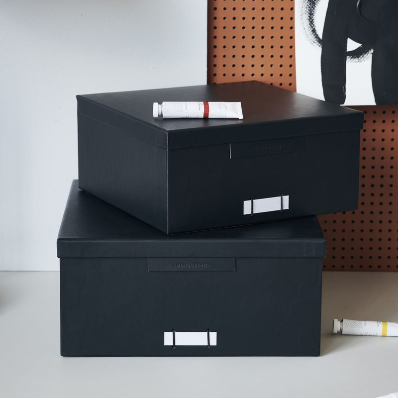 Monograph Opbergboxen met deksel File, zwart