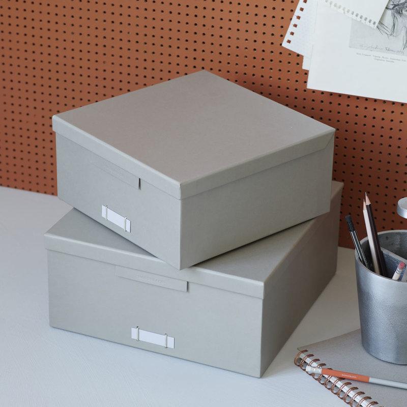 Monograph Opbergboxen met deksel File, grijs
