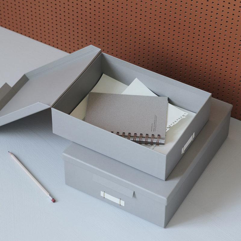 Monograph Opbergdozen met deksel File, grijs