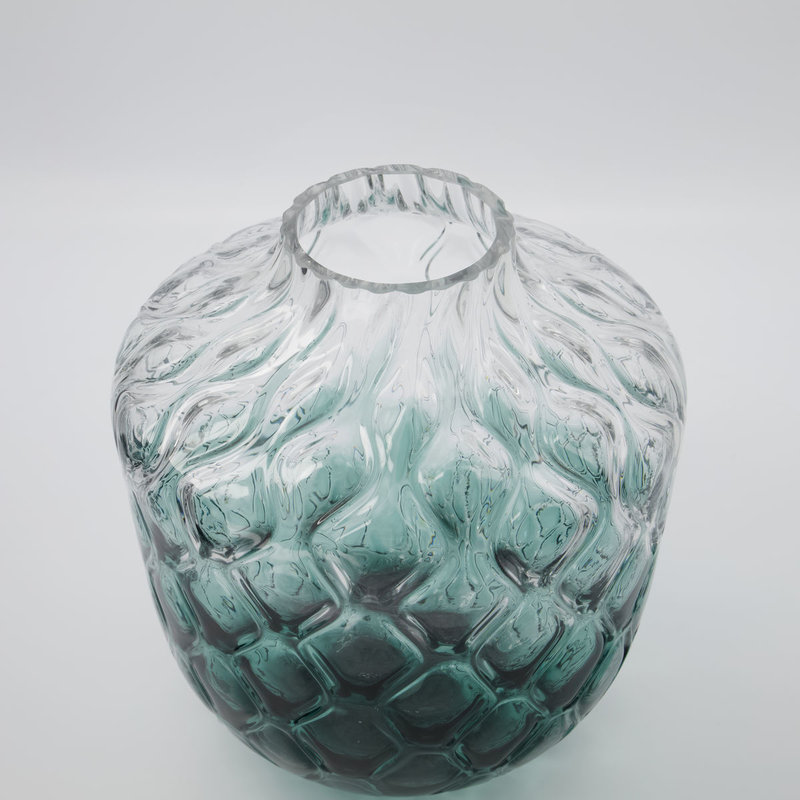 House Doctor Vase, Art Deco, Green, Finish/form may vary