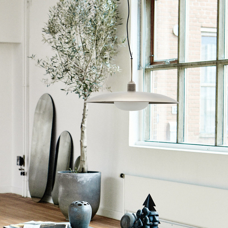 House Doctor Lamp, Boston, Gunmetal, E27, 3 m black fabric cable