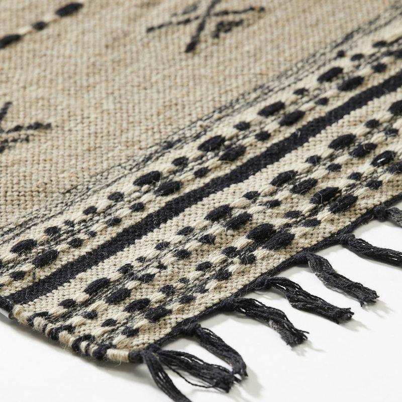 House Doctor Rug, Cros, Sand, Finish/Colour/Size may vary, Handmade