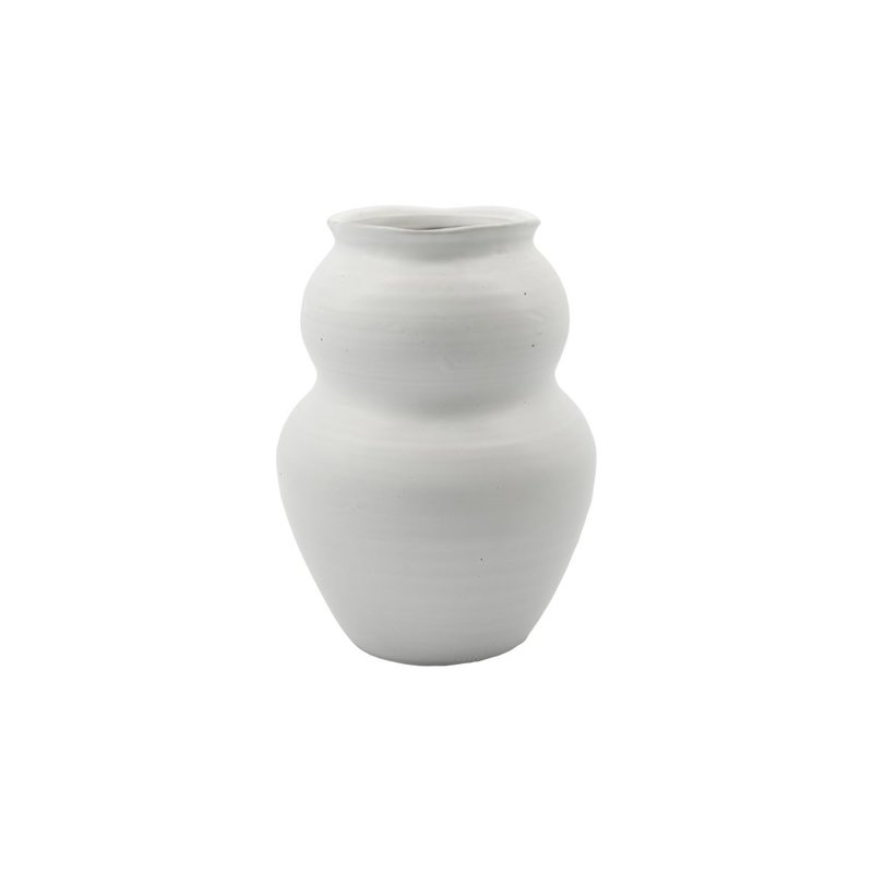 House Doctor Vase, Juno, White, Handmade, Finish/Colour/Size may vary