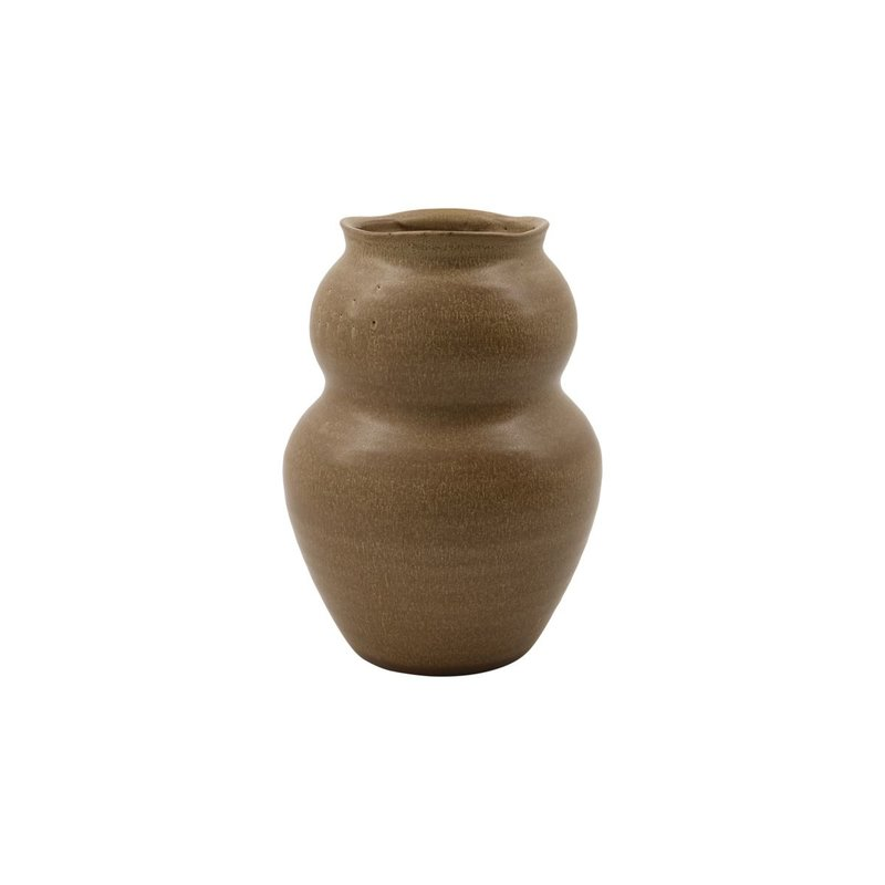 House Doctor Vase, Juno, Camel, Handmade, Finish/Colour/Size may vary