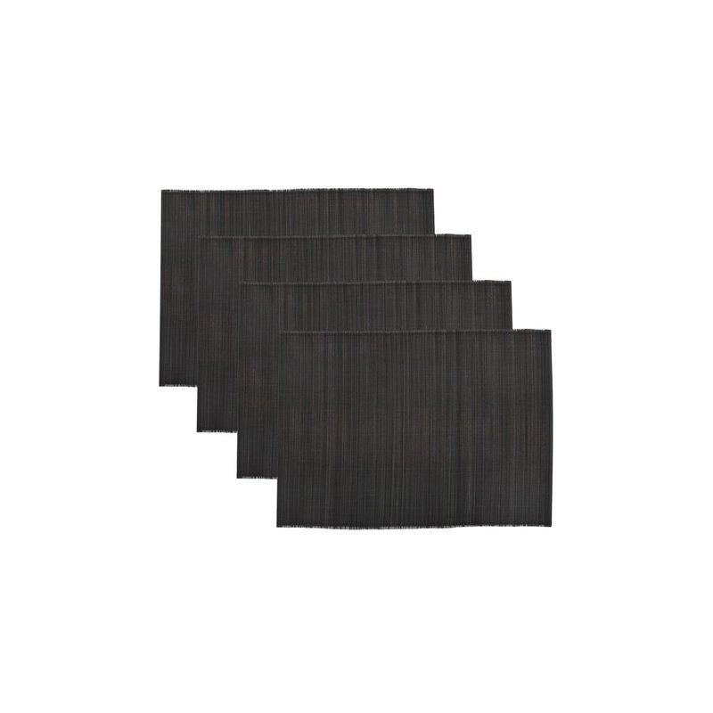 House Doctor Placemat Bamb zwart set/4