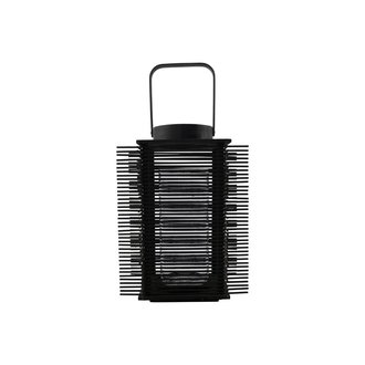 House Doctor Lantern, Asi, Black, Incl. glass cup