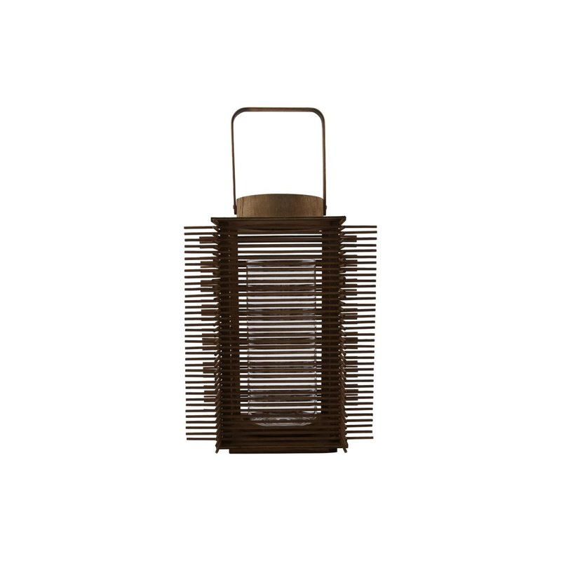 House Doctor Lantern, Asi, Natural, Incl. glass cup
