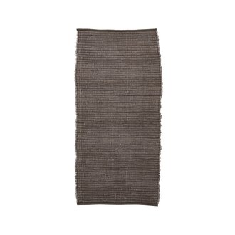 House Doctor Rug, Chindi, Brown, Handmade, Finish may vary
