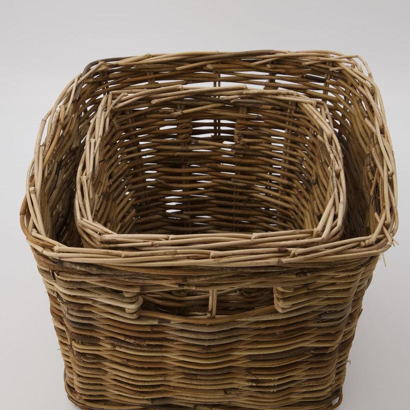 House Doctor Basket, Baskit, Natural, Set of 2 sizes