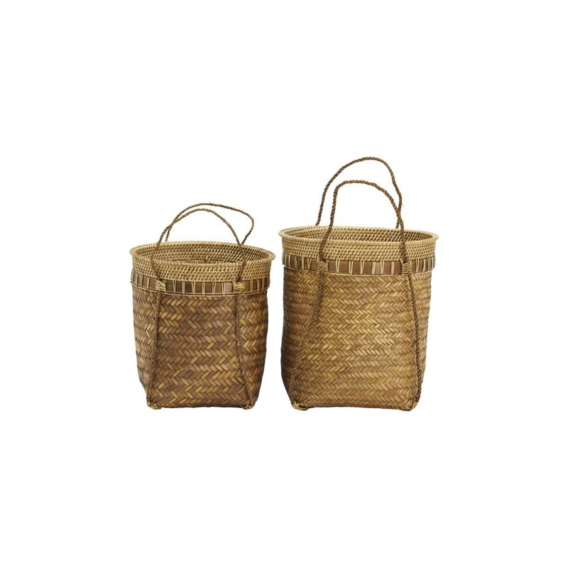 House Doctor Baskets, Balie, Nature, Set of 2 sizes, Finish/Colour/Size m