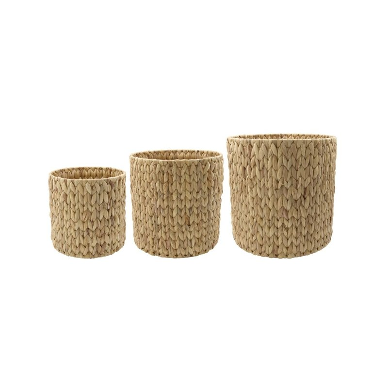 House Doctor Baskets/Storages, Roun, Natural, Set of 3 sizes