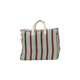 House Doctor Weekend bag, Recy, Red/Green, Colour may vary