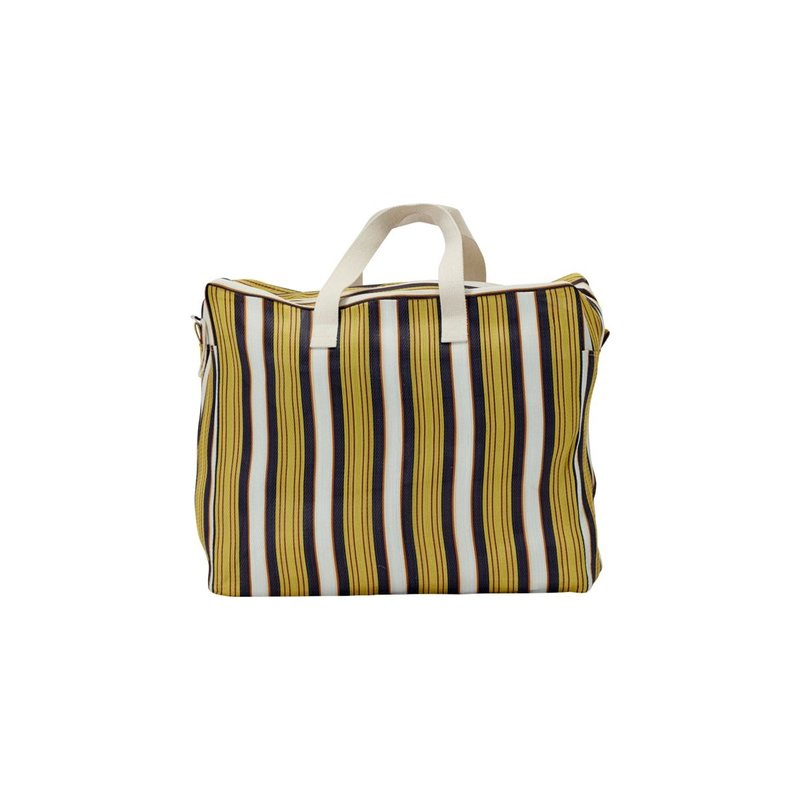 House Doctor Weekend bag, Recy, Yellow/Brown, Colour may vary