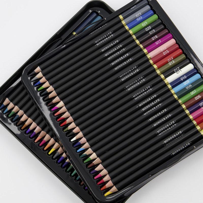 Monograph Watercolor pencils, Blend, Multi, Pack of 48 pcs, Assorted c