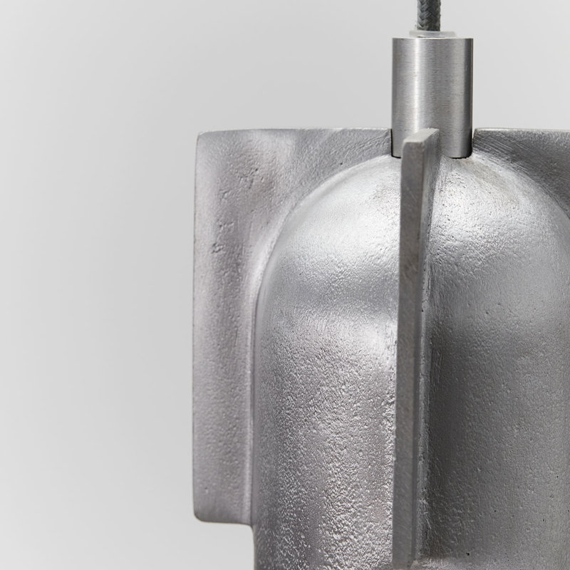 House Doctor Lamp, Akola, Geborsteld zilver