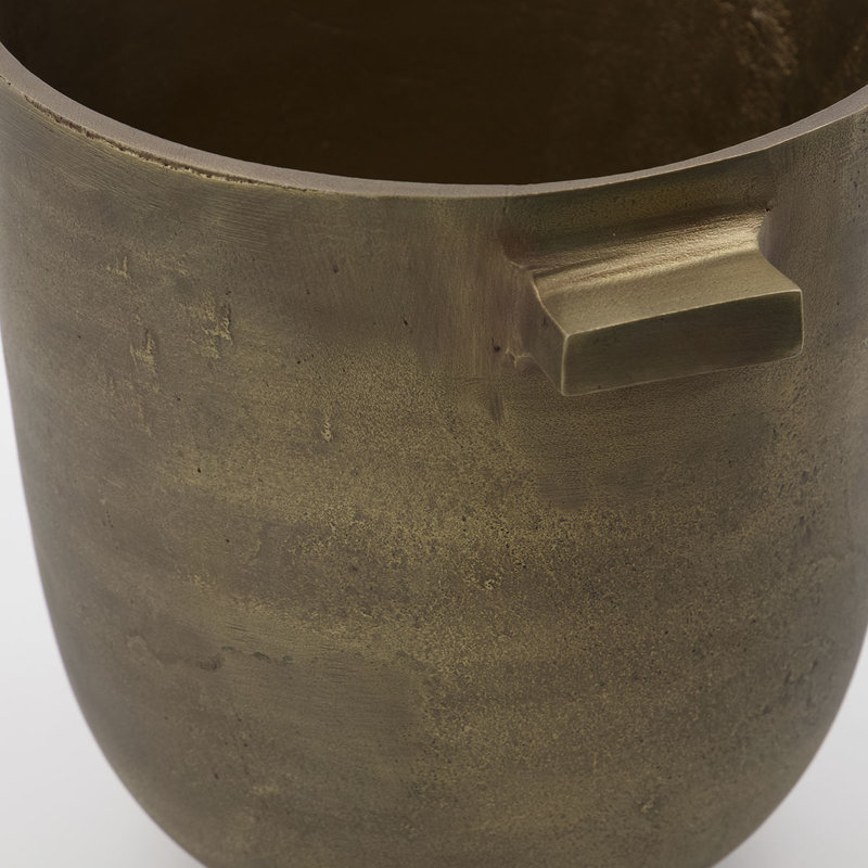 House Doctor Plantenpot, Foem, Antiek brass