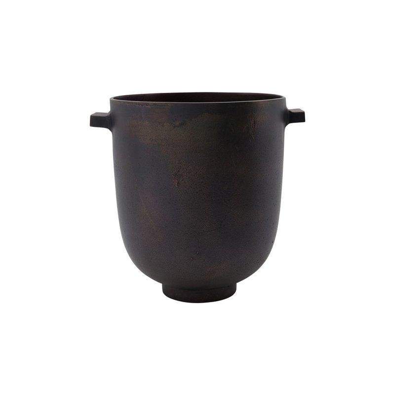 House Doctor Plantenpot, Foem, donkerbruin