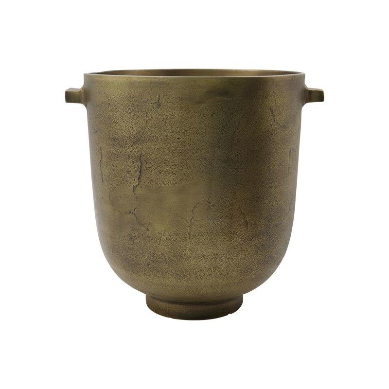 House Doctor Plantenpot, Foem, Antiek brons
