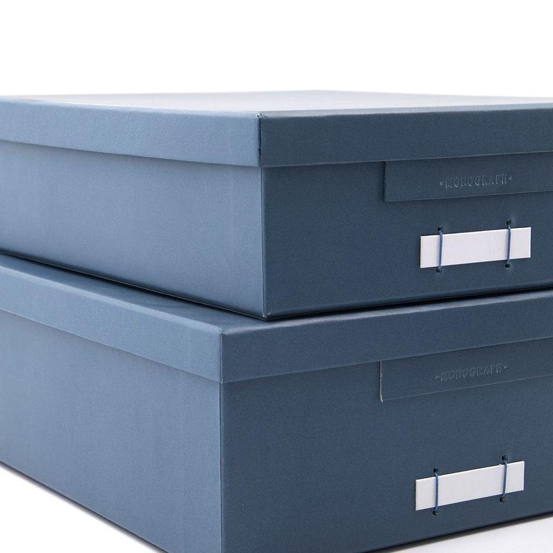 Monograph Dozen met deksel, File, Blauw/Petrolblauw