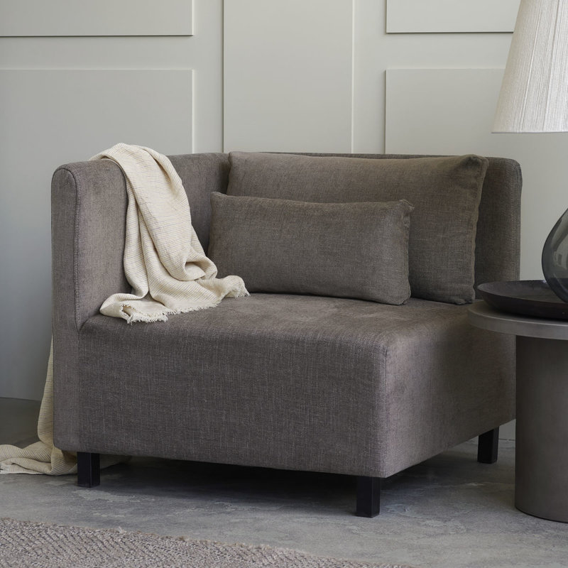 House Doctor Sofa hoekgedeelte, Hazel Night, grijs/bruin