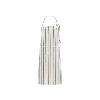 House Doctor Apron, Dry, White w. black stripes