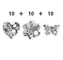 Schoolpakket 30 x Hart/Bloem/Vlinder 4-6 jaar Polymia