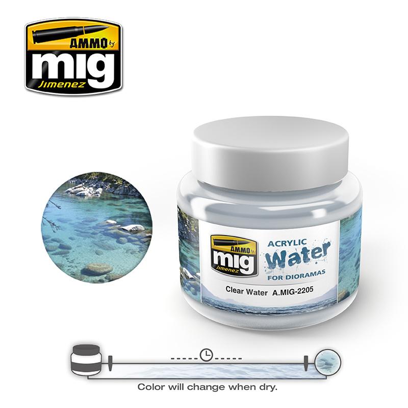 Ammo by Mig Jimenez Clear Water - 250ml - A.MIG-2205